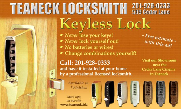 Teaneck Locksmith Shabbos Lock 201 928 0333